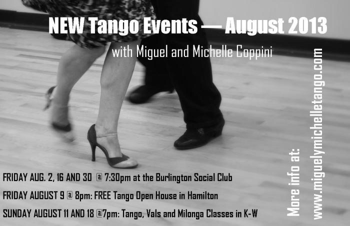new tango activities August 2013
