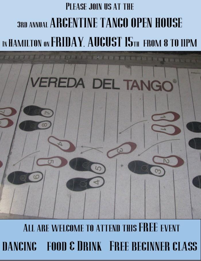 Free tango event in Hamilton