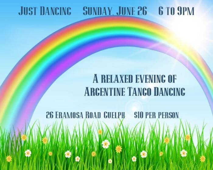 Dance Argentine Tango in the cool, sprung floor studio on June 26