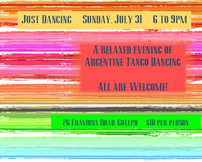 Guelph tango dancing July 2016