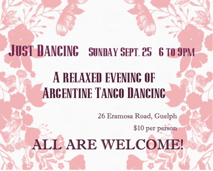 Just Dancing in Guelph on Sept. 25 from 6 to 9pm